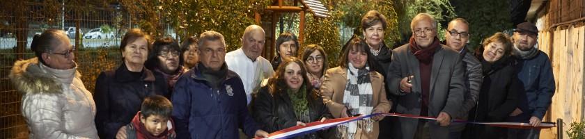 Inauguración Área Verde Alejandrina Carvajal